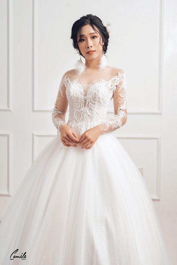 váy cưới dành cho người lùn 9 Địa chỉ cho thuê váy cưới dành cho người lùn đẹp nhất tại Hà Nội