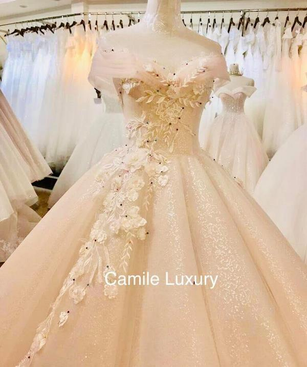 váy cưới màu hồng phấn 3 Chiêm ngưỡng 15 mẫu váy cưới màu hồng phấn pastel ngọt ngào nữ tính đẹp nhất 2020