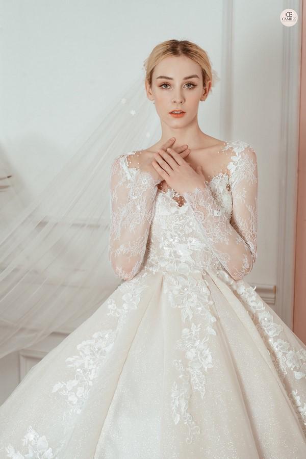 váy cưới thiết kế 2 Địa chỉ may đo thuê váy cưới thiết kế cao cấp đẹp và nhiều mẫu nhất Hà Nội