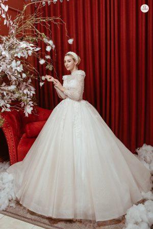váy cưới thiết kế 6 Địa chỉ may đo thuê váy cưới thiết kế cao cấp đẹp và nhiều mẫu nhất Hà Nội
