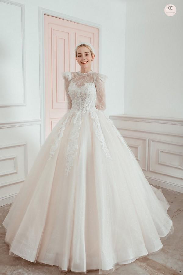 """váy cưới cho cô dâu lép 2 Trọn bộ bí kíp chọn thuê váy cưới cho cô dâu """"lép"""" siêu đơn giản"""