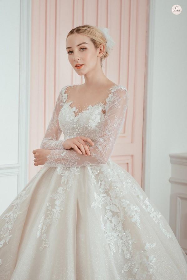 """váy cưới cho cô dâu lép 5 Trọn bộ bí kíp chọn thuê váy cưới cho cô dâu """"lép"""" siêu đơn giản"""