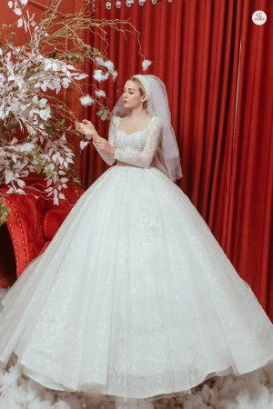váy cưới sang trọng Chiêm ngưỡng 15 mẫu váy cưới sang trọng, đẹp lộng lẫy cho mùa cưới 2020