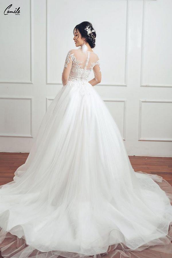 thuê váy cưới giá rẻ Bảng giá may đo thuê váy cưới Hà Nội cao cấp của Camile Bridal