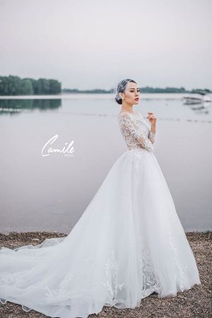 váy cưới 17 Mẫu váy cưới đẹp, sang trọng theo xu hướng váy cưới 2020