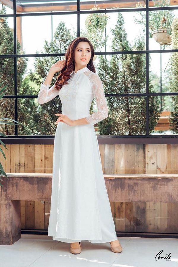 áo dài thêu tay đẹp 10 Gợi ý những mẫu áo dài thêu tay đẹp cho cô dâu trong mùa cưới 2020