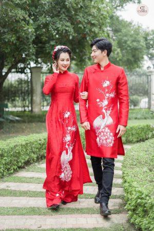 ẢNH CƯỚI SONG HỶ UYÊN ƯƠNG Thuê áo dài tại Hà Nội ở đâu đẹp, nhiều mẫu mã?