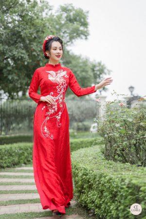 Áo Dài Cưới 16 03.Camile Bridal- Váy cưới Thiết Kế Cao Cấp đẹp nhất 2021