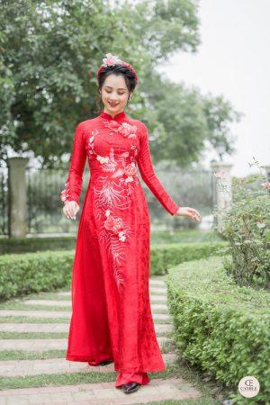 Áo Dài Cưới 17 03.Camile Bridal- Váy cưới Thiết Kế Cao Cấp đẹp nhất 2021