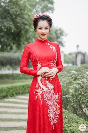 Áo Dài Cưới 19 03.Camile Bridal- Váy cưới Thiết Kế Cao Cấp đẹp nhất 2021