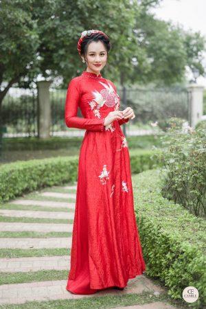 Áo Dài Cưới 21 03.Camile Bridal- Váy cưới Thiết Kế Cao Cấp đẹp nhất 2021