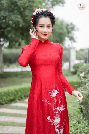Áo Dài Cưới 26 03.Camile Bridal- Váy cưới Thiết Kế Cao Cấp đẹp nhất 2021