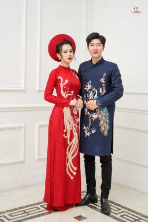 Áo Dài Cưới 27 03.Camile Bridal- Váy cưới Thiết Kế Cao Cấp đẹp nhất 2021
