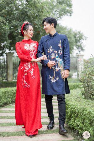 Áo Dài Cưới 28 03.Camile Bridal- Váy cưới Thiết Kế Cao Cấp đẹp nhất 2021