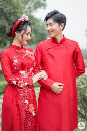Áo Dài Cưới 31 03.Camile Bridal- Váy cưới Thiết Kế Cao Cấp đẹp nhất 2021