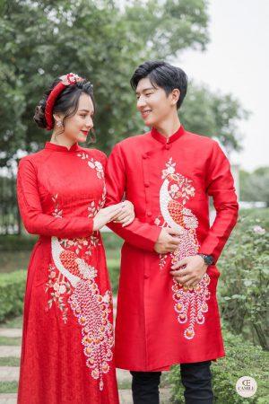 Áo Dài Cưới  03.Camile Bridal- Váy cưới Thiết Kế Cao Cấp đẹp nhất 2021