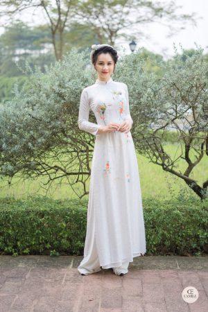 Áo Dài Cưới 4 03.Camile Bridal- Váy cưới Thiết Kế Cao Cấp đẹp nhất 2021