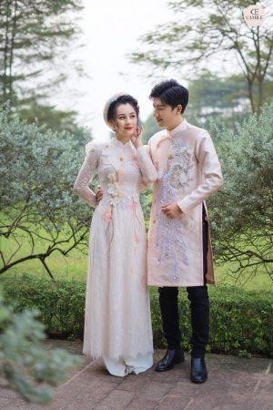 Áo Dài Cưới và Áo Dài truyền thống 03.Camile Bridal- Váy cưới Thiết Kế Cao Cấp đẹp nhất 2021