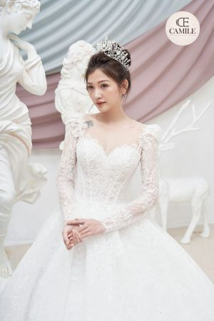 VÁY CƯỚI LUXURY CLASSIC 2021 01.Camile Bridal- Váy cưới Thiết Kế Cao Cấp 2021