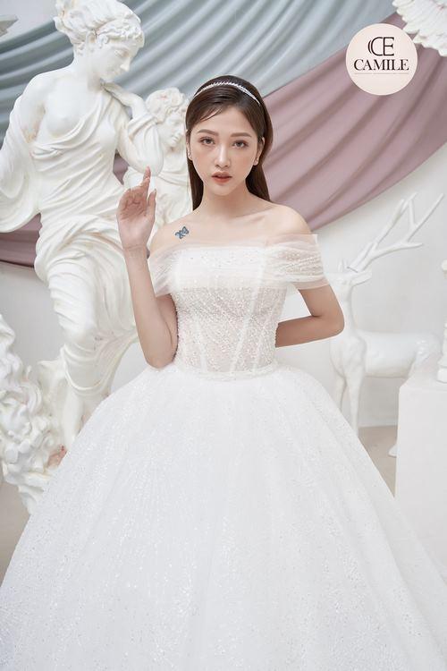 VÁY CƯỚI LUXURY CLASSIC 2021 Say đắm với 100 mẫu thiết kế váy cưới trễ vai đẹp nhất 2021
